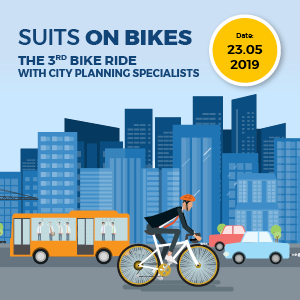 Suits on bikes. The 3rd bike ride with city planning specialists.
