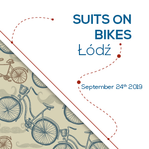 Suits on bikes - Łódź
