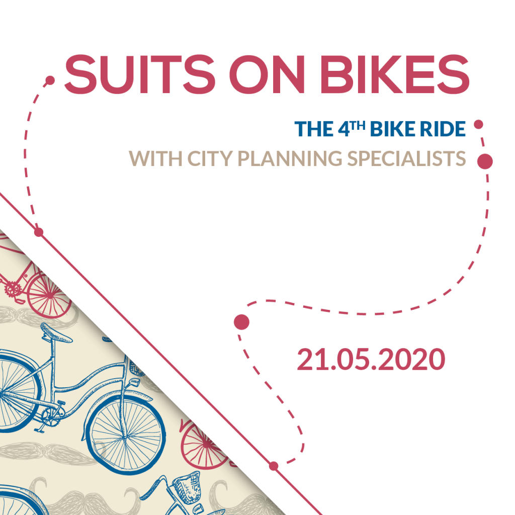 Suits on bikes. The 4th bike ride with city planning specialists.